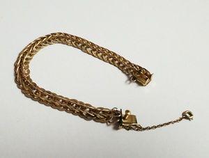 Vintage 50s gold 18ktgf chain link charm bracelet